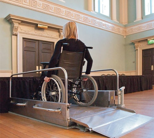 Setting the Stage: Portable lift at Bath Assembly Rooms