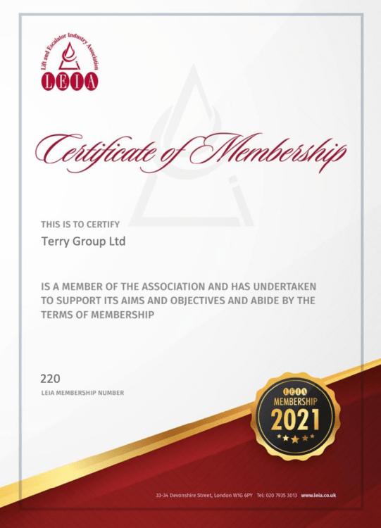 LEIA Membership Certificate